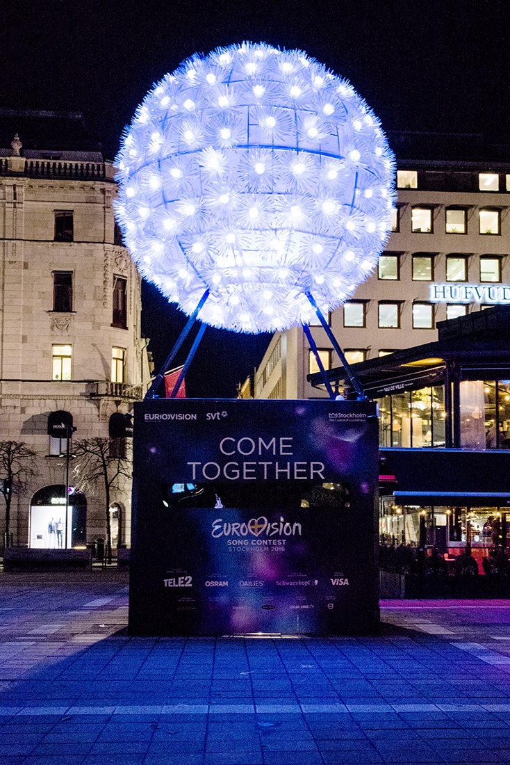 Eurovision Countdown 2016 Sculpture by Mattias Dahlqvist
