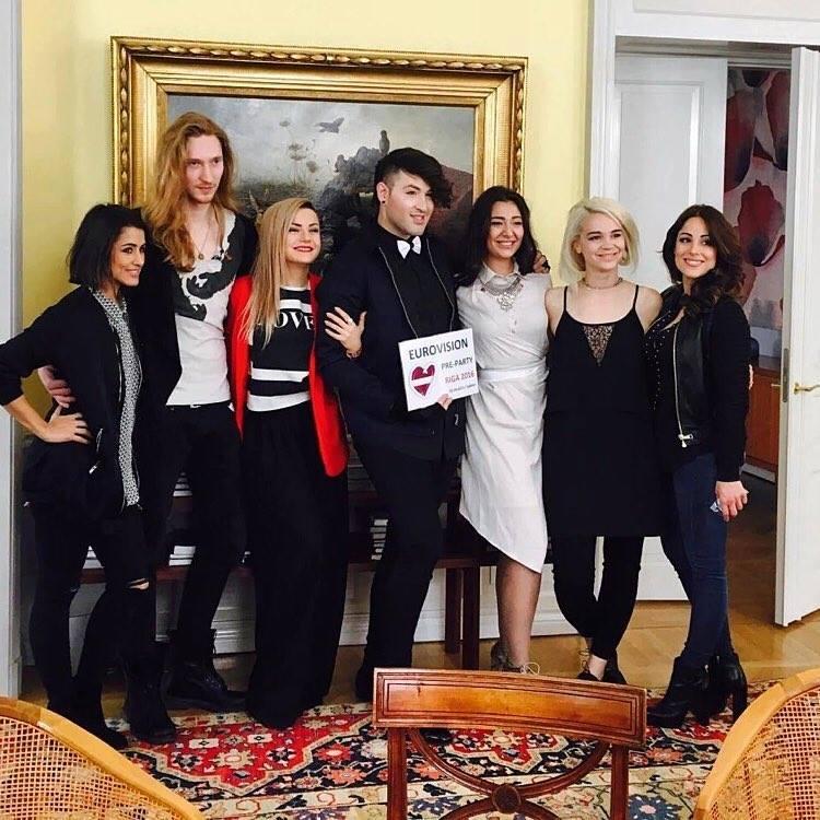 Barei, Ivan, Poli Genova, Hovi Star, Sanja Vucic, Rykka and Ira Losco in Riga